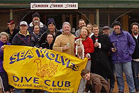 Sea Wolves Dive Club members